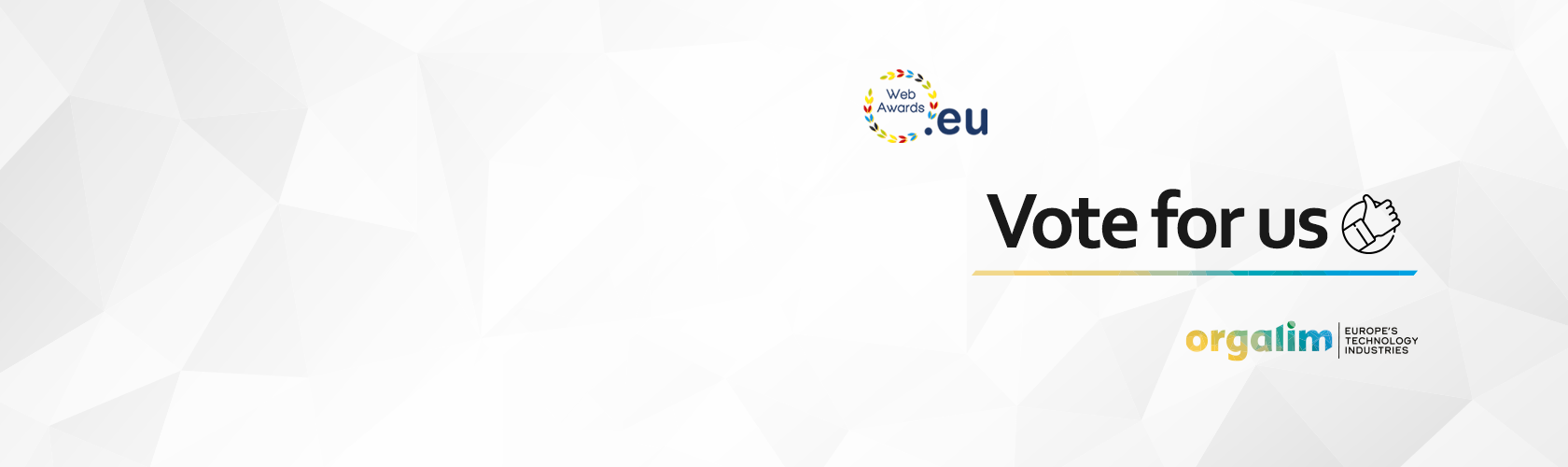Vote for Orgalim in the 2020 .eu Web Awards!