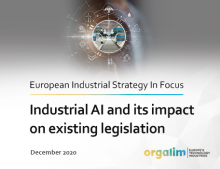 Industrial AI and its impact on existing legislation