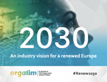 Europe's technology industries at the heart of a renewed EU: Orgalim launches industry vision ahead of 2019 elections