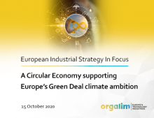 A Circular Economy supporting Europe's Green Deal climate ambition